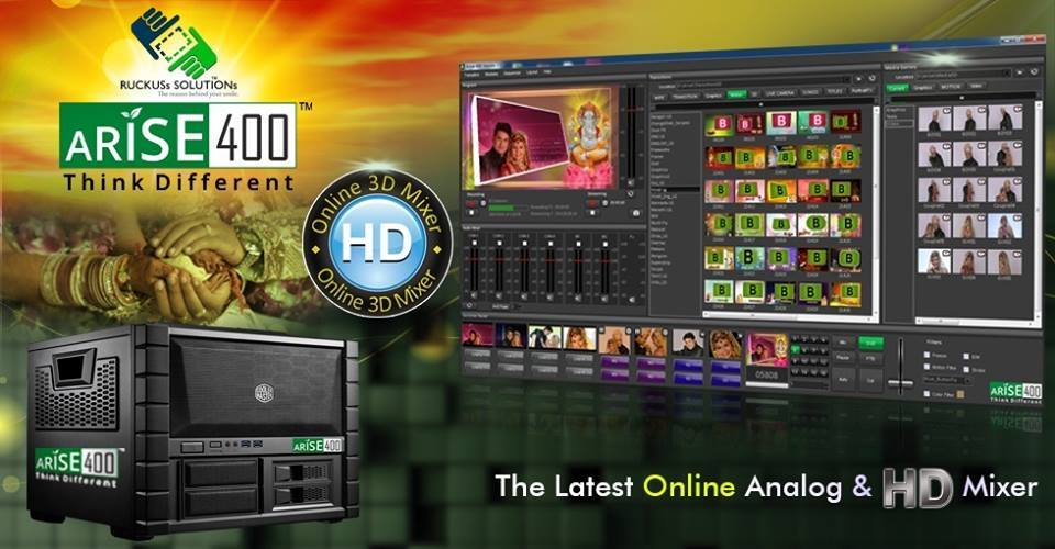 ARISE 400 The Latest ONLINE Analog & HD Mixer – Digitalphotovideonews